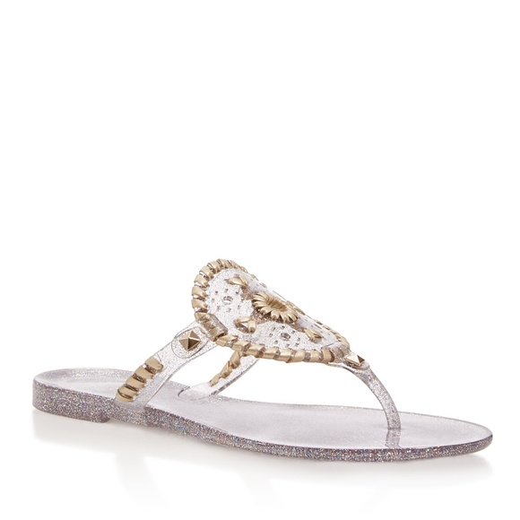 12d7e8b46f4e Jack Rogers Sparkle Georgica Jelly Thong Sandals